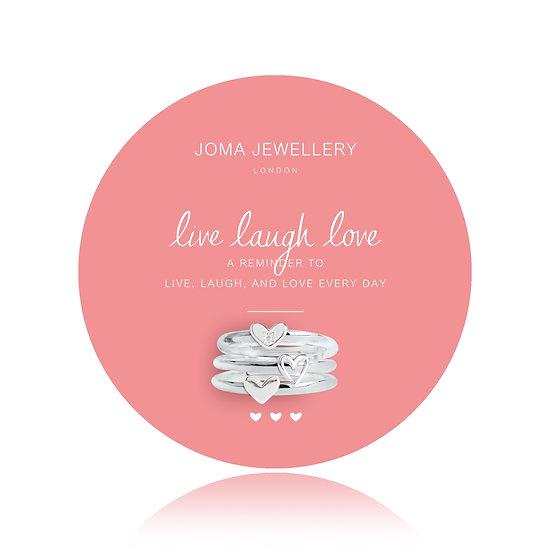 Joma Jewellery Live Laugh Love 3Ring Set
