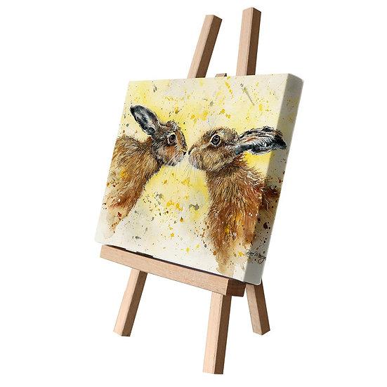 Hannah & Henry Hares Canvas Cutie