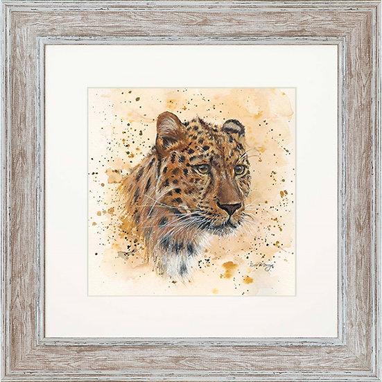 Layla Leopard 48cm Square Framed Print