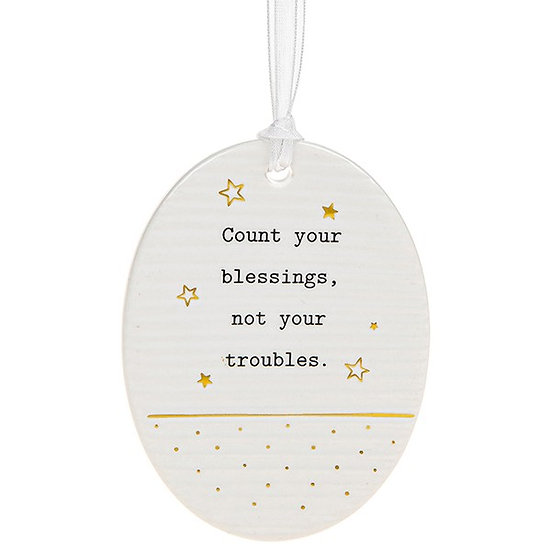 Thoughtful Words Hanging Plaque - Blessings
