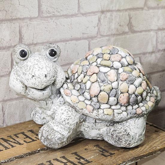 Mosaic Polystone Tortoise Garden Ornament