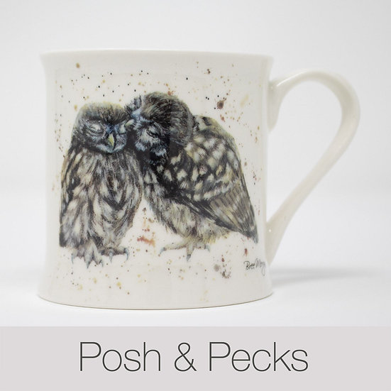 Posh and Packs Owls China Mug