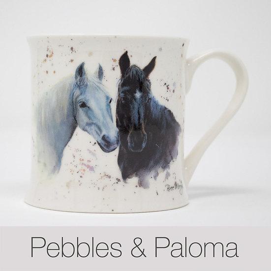 Pebbles and Paloma Horses China Mug
