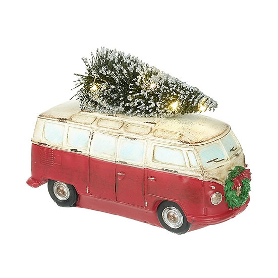 Festive Campervan with Light Up Tree