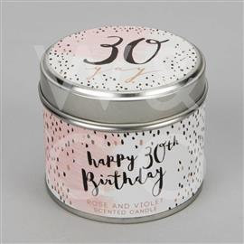 30th Birthday Tin Candle