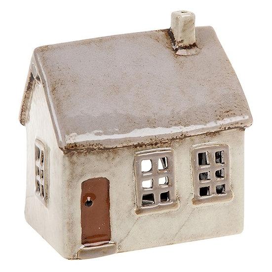 Light Grey House Tealight Holder