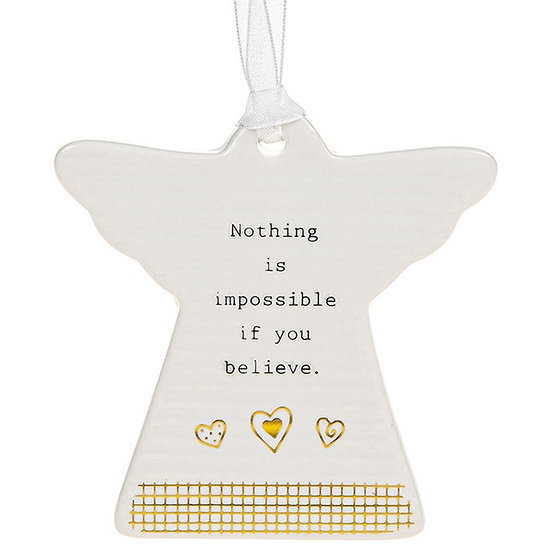 Thoughtful Words Hanging Plaque - Believe