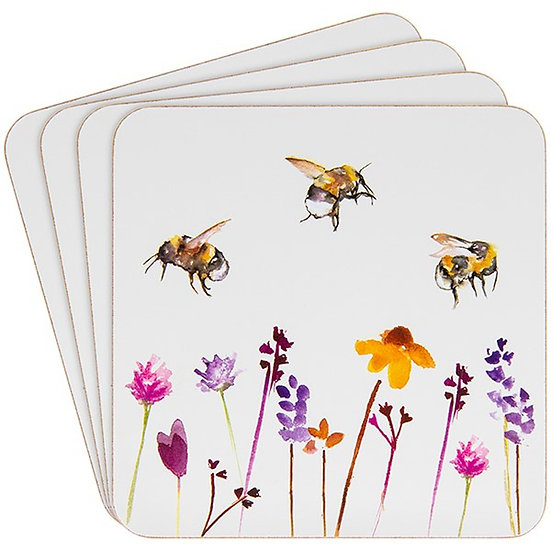 Set of 4 coasters - Busy Bee