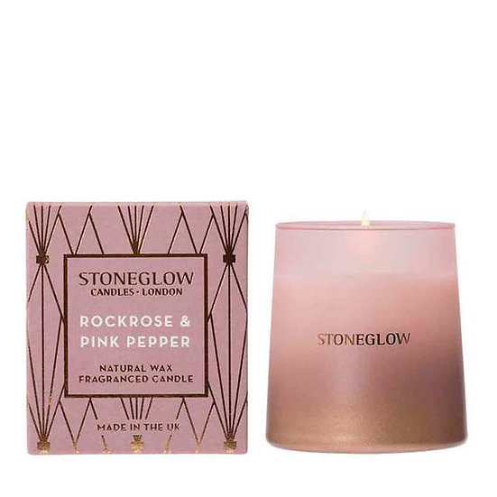 Stoneglow Rock Rose and Pink Pepper Tumbler Candle