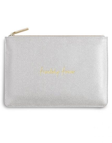 Katie Loxton Silver Shimmer 'Friendship Forever' Perfect Pouch