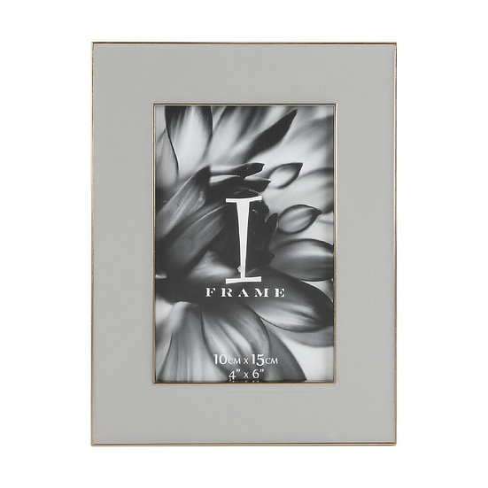 "4"" x 6"" iFrame Soft Grey Photo Frame"