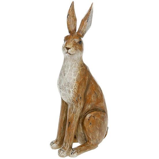 Wood Effect Hare Ornament