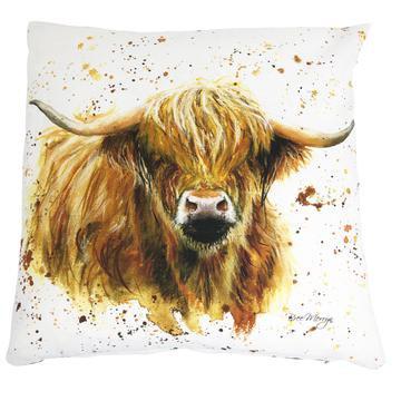 Blair Highland Cow Luxury Feather Cushion - Bree Merryn