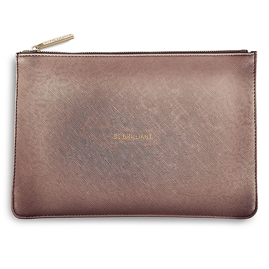 Katie Loxton 'Be Brilliant' Rose Gold Perfect Pouch