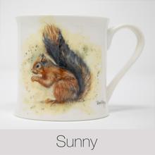 Sunny Squirrel China Mug