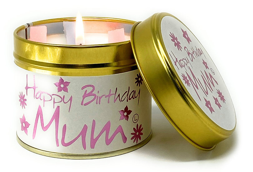 Lily Flame Happy Birthday Mum Tin Candle