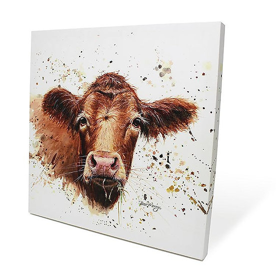 Gertrude Cow 40cm Box Canvas