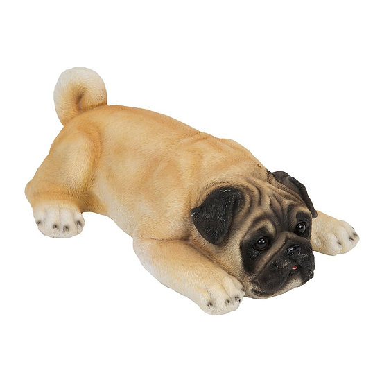 Pug Puppy Laying Down Figurine - Best Of Breed