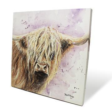 Archibald Cow 40cm Box Canvas