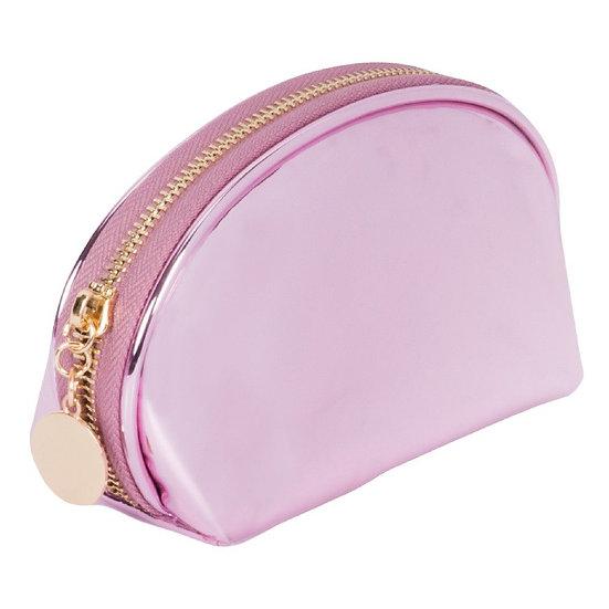 Metallic Pink Cosmetic Bag- Girl Talk