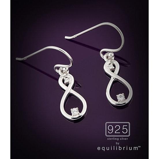Sterling 925 Silver Infinity Earrings