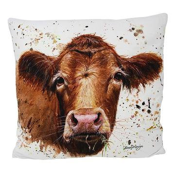 Gertrude Cow Luxury Feather Cushion