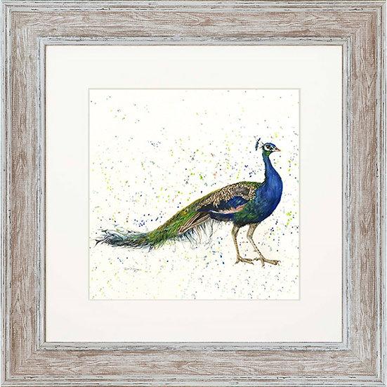 Peaky Blinder Peacock 48cm Square Framed Print