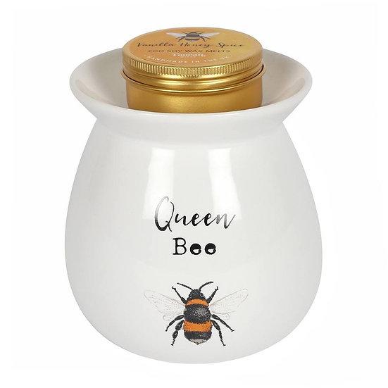 Queen Bee Wax Melt and Burner Gift Set