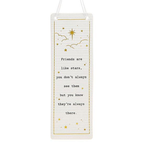 Thoughtful Words Large Hanging Plaque - Friends