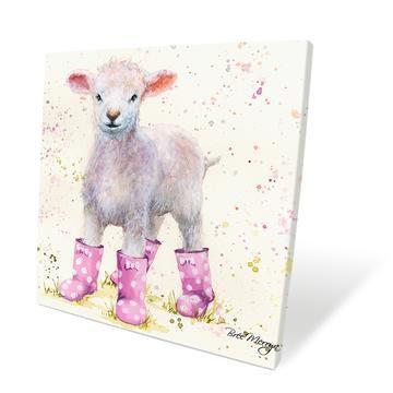 Lottie Lamb 40cm Box Canvas