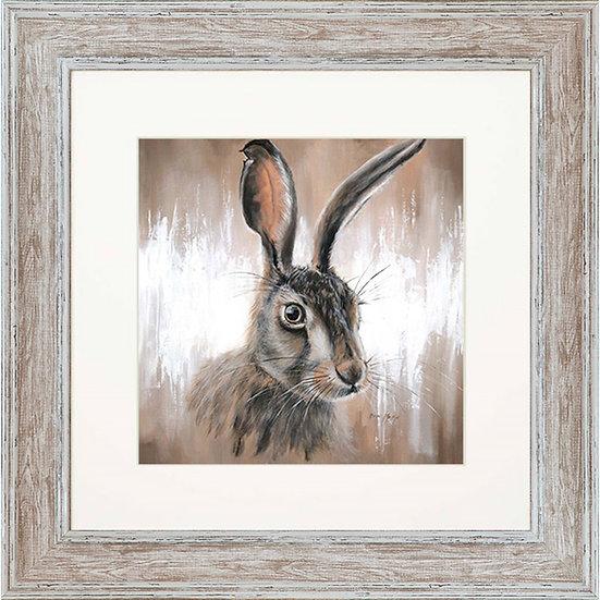 Hattie Hare 48cm Square Framed Print