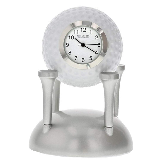 Golf Ball on Tees Miniature Desk Clock