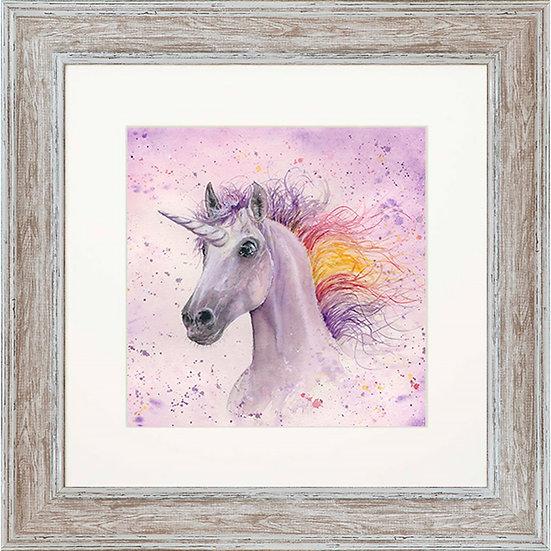 Celestia Unicorn 48cm Square Framed Print