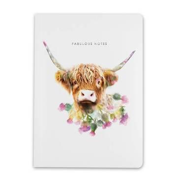 Lola Design A5 Highland Cow Notebook