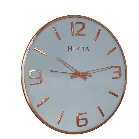 Hestia 38cm Wall Clock - Copper/Rose Gold