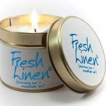 Lily Flame Fresh Linen Tin Candle