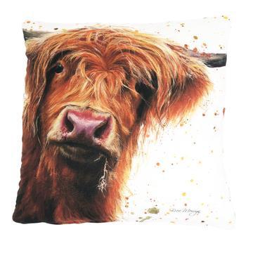 Betsy Highland Cow Luxury Feather Cushion - Bree Merryn