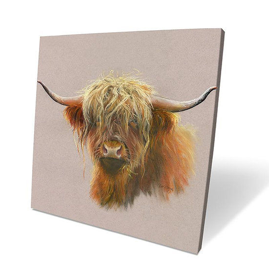 Agnes Cow 40cm Box Canvas