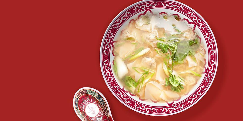 Ravioles et bouillon thaï