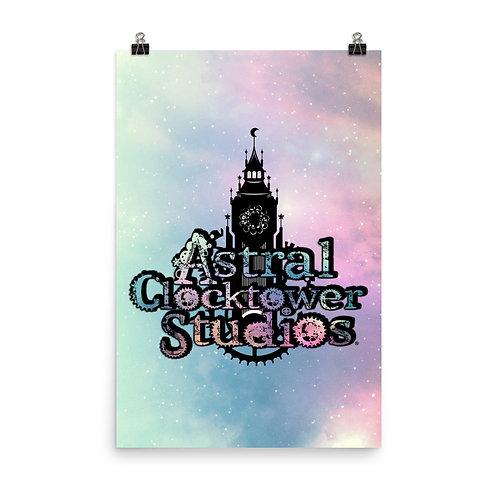 Astral Clocktower Studios Logo Poster