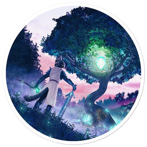 "Kristala ""The Sacred Crystal Calls"" Vinyl Sticker"