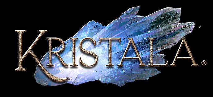 Logo for 3D Dark Fantasy ARPG Kristala, developed by women-owned Astral Clocktower Studios