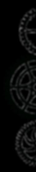 Astral Clocktower Studios brand decorative, left-facing triple gear graphic