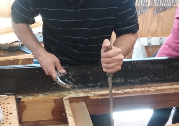 """Tightening the Frame Shoe or """"Tone Collector"""""""