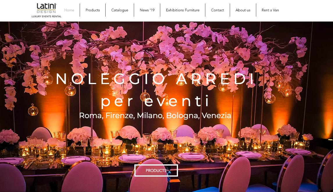 Latini design noleggio sedie tavoli ed arredi per eventi italia