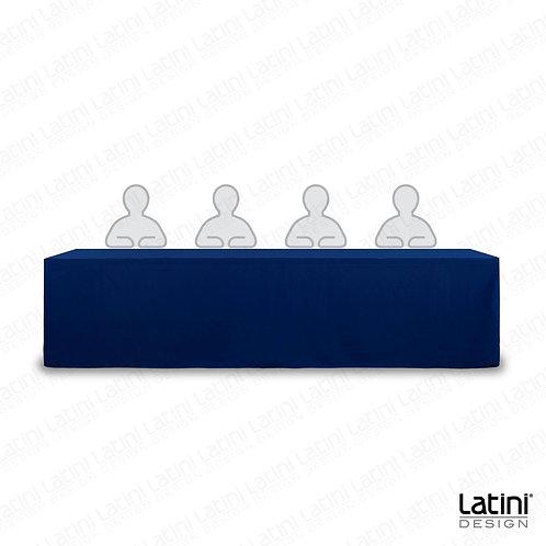 Cover per tavolo relatore blu 300 cm