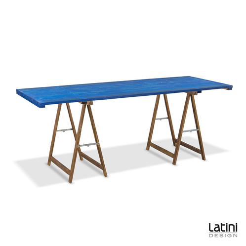 Tavolo Rettangolare con Cavalletti in legno | LATINI DESIGN ...