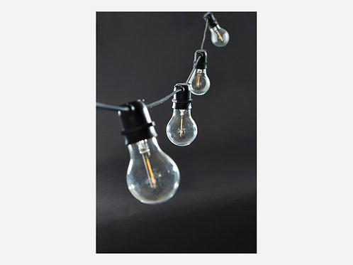 Filo di Luci con lampadine a Led Nero 8,4 mt