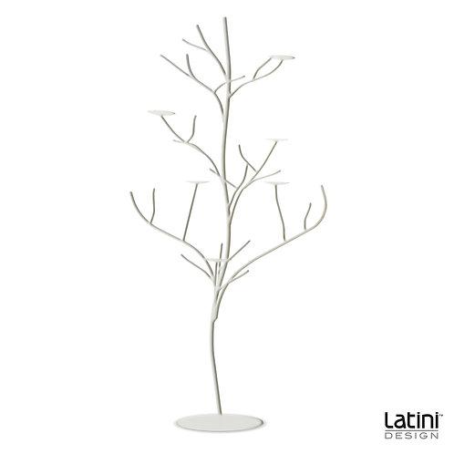 Struttura albero portacandele Robert Bianco H 90 cm
