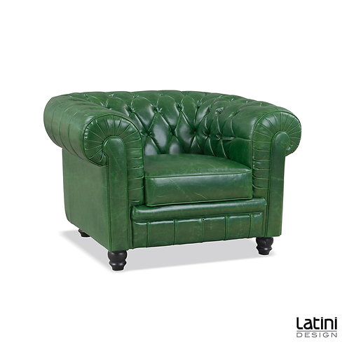 Poltrona Chesterfield Vintage Green